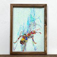 Ant 「グラフィック」A4  ポスター + 古材 フレーム セット商品