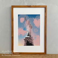 A4サイズ ポスターアート + A3サイズ額縁 ニューヨーク 自由の女神 The Statue of Liberty Pt. 02