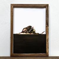 Sword「グラフィック」A4  ポスター + アンティーク 木製 フレーム
