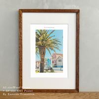 ポスター アート A4 + 木製 フレーム A3 セット It's all about Portugal「グラフィック」No.25 玄関 寝室 オフィス インテリア