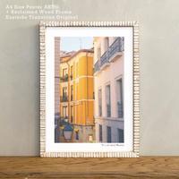 アートポスター A4 + ポスターフレーム 古材 「 A part of street 」It's all about Madrid No.5