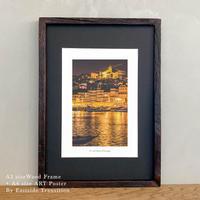 It's all about Portugal「グラフィック」No.16 ポスター アート A4 + 古材 フレーム A3 セット 玄関 寝室 オフィス インテリア