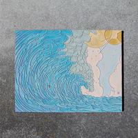 青のトンネル キャンバスアート