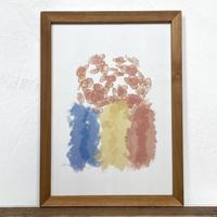 Inspirations「水彩」  A4 ポスター アート & アンティーク ウッド フレーム