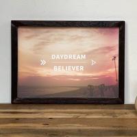 古材フレーム + A4 プリント ポスター 壁掛け アート 【 Daydream Believer 】