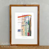 It's all about Portugal「グラフィック」No.6 ポスター アート A4 + 古材 フレーム A3 セット 玄関 寝室 オフィス インテリア