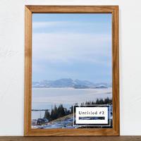 古材 フレーム + A4 ポスター アート セット Untitled #2「 グラフィック 北欧 」 No.29