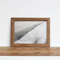 """南米シリーズ """"sand""""  A4 ポスター + アンティーク 木製 フレーム セット商品"""