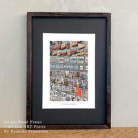 It's all about Portugal「グラフィック」No.7 ポスター アート A4 + 古材 フレーム A3 セット 玄関 寝室 オフィス インテリア
