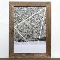 The Wall「幾何学」 A4 プリント ポスター アート  & 古材 アートフレーム