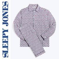SLEEPY JONES Henry Pajama Set 「Red, White & Blue Block Print」 メンズ パジャマ スリーピージョーンズ