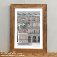 アートポスター A4 + ポスターフレーム 古材 「 See the ancient history 」It's all about Madrid No.6