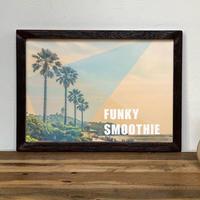 古材フレーム + A4 プリント ポスター 壁掛け アート 【 Funky Smoothie 】