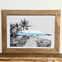 island in the sun グラフィック A4 ポスター & 木製 ポスターフレーム 壁掛け