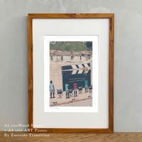 ポスター アート A4 + 木製 額縁 A3 セット It's all about Spain「グラフィック」No.30 寝室 リビング 玄関 インテリア