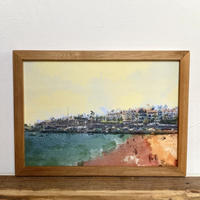 Summering「オイルペイント」  A4 ポスター アート & 木製 アンティーク 額縁
