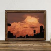 古材フレーム + At dusk「グラフィック」A4  ポスター プリント