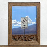 Untitled「Transition 南米」 A4 ポスター & 木製 ポスターフレーム 壁掛け