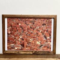 Orange「Transition 南米」 A4 ポスター & 木製 ポスターフレーム 壁掛け