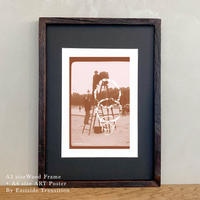 「Nijinsky 4 x 3」Classic Portrait グラフィック ポスターアート A4サイズ + A3サイズ 古材 額縁
