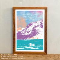 「Schnee」 アートポスター A4 + 木製 ポスターフレーム 壁掛け インテリア