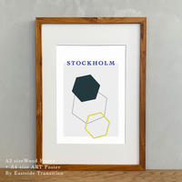 A4サイズ ポスターアート + A3サイズ額縁 北欧 Stockholm Syndrome