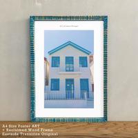 アートポスター インテリア A4 + ポスターフレーム アンティーク「 azul e branco 」It's all about Portugal No.26