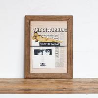 「劇薬」コラージュ A4 ポスター + 古材 フレーム セット商品