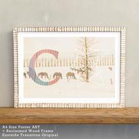 「Alphabetical C」 北欧 インテリアポスター A4 + ポスターフレーム アンティーク 部屋 飾り 壁飾り インテリア 廊下 階段 寝室 子供部屋