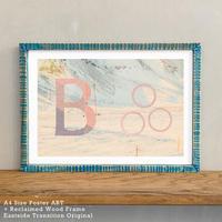 「Alphabetical B」 北欧 インテリアポスター A4 + ポスターフレーム アンティーク 部屋 飾り 壁飾り インテリア 廊下 階段 寝室 子供部屋