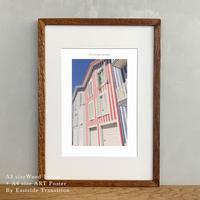ポスター アート A4 + 木製 フレーム A3 セット It's all about Portugal「グラフィック」No.27 玄関 寝室 オフィス インテリア