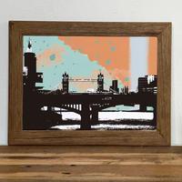 古材フレーム + A4 プリント ポスター 壁掛け アート 【 ロンドン Printworks no.1 】