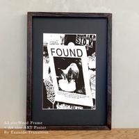ポスターアート A4サイズ + A3サイズ額縁 ニューヨーク Stray cat