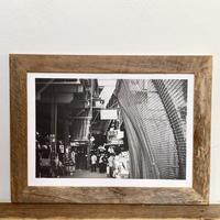 Gray L「NYシリーズ」 A4 モノクロポスター & 木製 ポスターフレーム 壁掛け
