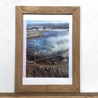 Geysir「幾何学」 A4 プリント ポスター アート & 木製 アンティーク 額縁