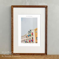 ポスター アート A4 + 木製 フレーム A3 セット It's all about Portugal「グラフィック」No.19 玄関 寝室 オフィス インテリア