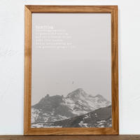 古材 フレーム + A4 ポスター アート セット 「 グラフィック 北欧 」No.26