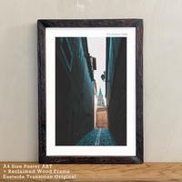 アートポスター A4 + ポスターフレーム 古材 「 Explore off-street 」It's all about Toledo No.4