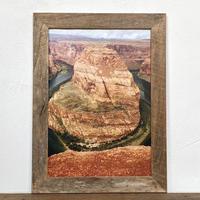 Horseshoe Bend「Transition USA」 A4 ポスター & 木製 ポスターフレーム 壁掛け