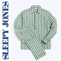 SLEEPY JONES Henry Pajama Set 「Cream, Green & Blue Regimental Stripe」 メンズ パジャマ スリーピージョーンズ