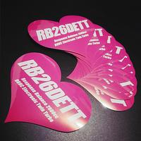 RB26DETT HEART PINK STICKER -  ハート ピンク ステッカー / JDM NISSAN GTR SKYLINE 日産 ニッサン スカイライン