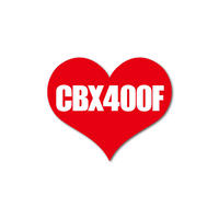 CBX400F HEART RED STICKER - シービーエックス ハート レッド ステッカ ー /  HONDA ホンダ