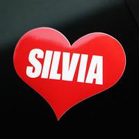 SILVIA HEART RED STICKER - シルビア ハート レッド ステッカー / NISSAN 日産 JDM  ドリフト カスタム
