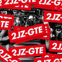2JZ-GTE RED STICKER  - ステッカー / JDM USDM カスタム SUPRA ドリフト