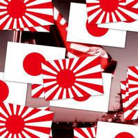 RISING SUN FLAG STICKER - 日本 旭日旗 ステッカー / JDM 旧車 カスタム