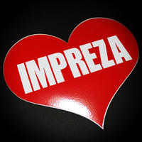 IMPREZA HEART RED STICKER - インプレッサ ハート レッド ステッカー  / SUBARU スバル WRX JDM