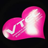 VTEC HEART PINK STICKER - ブイテック ハート ピンク ステッカー / HONDA CIVIC ホンダ シビック JDM