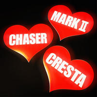 MARK 2 HEART RED STICKER - マーク2 ハート レッド ステッカー / TOYOTA 豊田 トヨタ JZX100 JZX90 1JZ JDM ドリフト