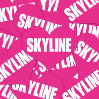 SKYLINE HEART PINK STICKER - スカイライン ハート ピンク ステッカー / NISSAN ニッサン GTR 日産 JDM ドリフト