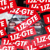 1JZ-GTE RED STICKER  - ステッカー / JDM USDM CHASER MARK2 CRESTA CROWN カスタム ドリフト